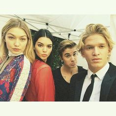 Cody Simpson, Gigi Hadid, Kendall Jenner and Justin Bieber