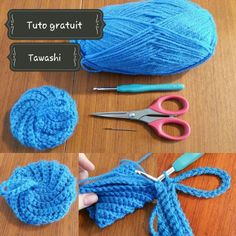 Tuto gratuit crochet Tawashi, l'éponge durable.