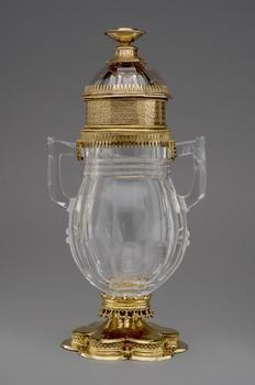 primera mitad del siglo 15, Cristal de roca, Plata dorada.