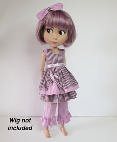 Sewing patterns for Ellowyne Wilde, Patience, Evangeline Ghastly, Kaye Wiggs, Blythe, and more.