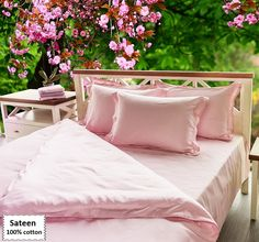 Pink Duvet Covers Queen Single Sizes, Sateen Pink Bedding Sets Queen Single Sizes 4 or 5 Pieces