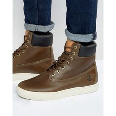 Timberland Newmarket Cupsole Boots ($135) ❤ liked on Polyvore featuring men's fashion, men's shoes, men's boots, brown, mens lace up shoes, mens brown shoes, mens leather shoes, timberland mens boots and mens round toe cowboy boots
