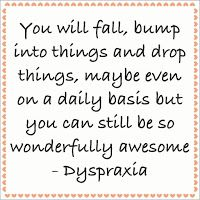 Thinking Out Of The Box: dyspraxia