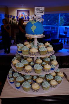 around the world birthday party decor | Been Around The World Cupcakes...!