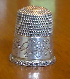 Antique 1900s Silver Thimble