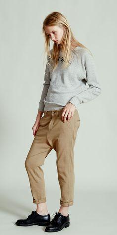 NLST l Raglan USN Sweatshirt and Knit Chino#NLST #SS15 #womenswear nlst-usa.com