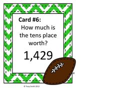 Football Place Value Game - Grades 3-4