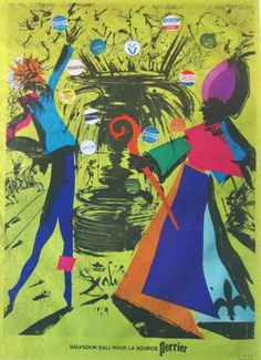 Lot 469 - Estimated £300 - £500 - SALVADOR DALI (1904-1989), 'The Spring at Evian (Perrier)', 1969, original silk screenprint in colours signed by the artist, 40cm W x 58cm H.