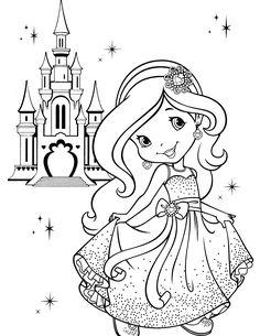 Princesa moranguinho no castelo