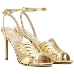 69ffb0d9b22 Valentino Angelicouture Metallic Leather Sandals ( 925) ❤ liked on Polyvore  featuring shoes