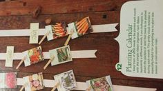 Great idea for keeping track of what gets planted when. Will definitely do this.