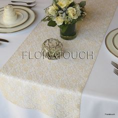 Hey, I found this really awesome Etsy listing at https://www.etsy.com/listing/108440949/champagne-lace-table-runner-wedding