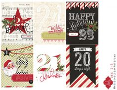 Free Christmas Journal Cards from Heidi Swapp