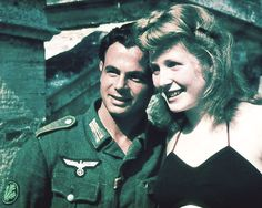 Soldier & his gal? Nazi Germany in color