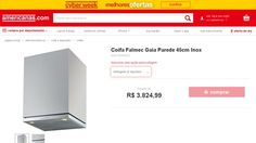 [Americanas.com] Coifa Falmec Gaia Parede 45cm Inox - de R$ 3.848,55 por R$ 3.365,99 (12% de desconto)