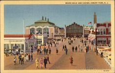 Board Walk and Casino Asbury Park New Jersey