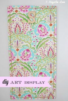 Girl's Art Board. A quick, colorful and easy way to make a display for kid's artwork.