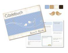 """Gästebuch """"Lovely"""" mit Fragen an die Gäste (PDF) von Be-Nice-4-You auf DaWanda.com"""