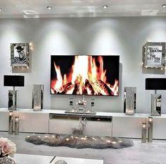 homedecor christmas MyLifeAsNae for more home decor pins! Living Room Decor Cozy, Living Room Modern, Home Living Room, Living Room Designs, Bedroom Decor, Bedroom Bed, Living Area, Living Room Inspiration, House Rooms