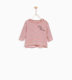 STRIPED AND EMBROIDERED T-SHIRT - Available in more colours