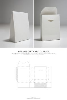 A-Frame Gift Card Carrier - Packaging & Dielines: The Designer's Book of Packaging Dielines