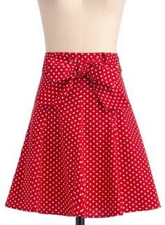 Cute red polka dot skirt