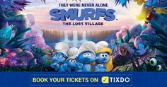 The are back with an all new world Lost Village, Smurfette, Never Alone, Movie Tickets, Event Ticket, Smurfs, Animation, World, Fictional Characters