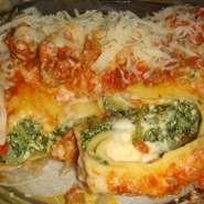 Canelones de verdura con Ricota y queso