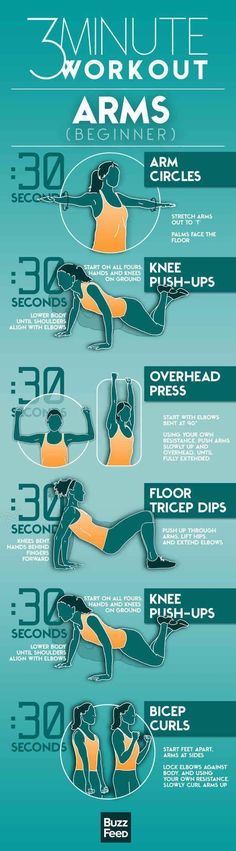3-Minute Workout for Arms (Begginer)
