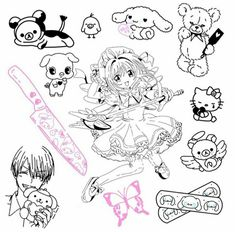 Spooky Tattoos, Dope Tattoos, Mini Tattoos, Body Art Tattoos, Small Tattoos, Tatoos, Doodle Tattoo, Tattoo Drawings, Black Girls With Tattoos