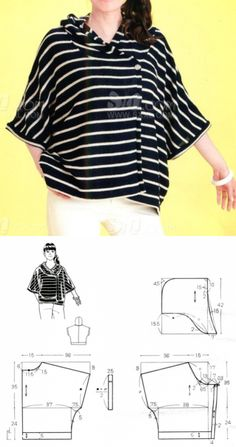Sewing Stitches For Beginners Easy Sewing Patterns, Clothing Patterns, Dress Patterns, Sewing Clothes, Diy Clothes, Pullover Shirt, Diy Kleidung, Sewing Stitches, Fashion Sewing