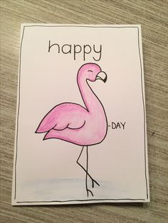 Add a bee drawing where the flamingo is for a Bee- day card! Cute Easy Drawings, Cool Art Drawings, Pencil Art Drawings, Kawaii Drawings, Doodle Drawings, Art Drawings Sketches, Disney Drawings, Doodle Art, Bullet Journal Art