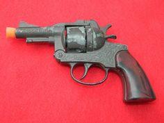 Vintage Diecast Toys Cap Gun SPECIAL AGENT CRESCENT TOYS Pretend Play Gun Toy