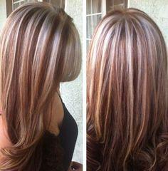 #hair #highlights #platinum #red