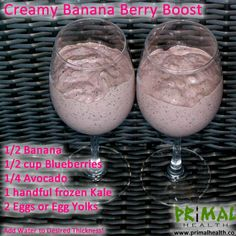 Natural Smoothie and Shake Recipes - see the article for more recipes!