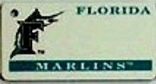 """This is an MLB Florida Marlins Team License Plate Key Chain or Tag. An excellent and affordable gift for an avid MLB fan! The key chain is available with engraving or without engraving. It is a standard key chain made of durable plastic and size is approximately 1.13"""" x 2.25"""" and 1/16"""" thick."""