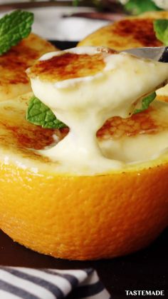 Tasty Videos, Food Videos, Creme Brulee, Fun Easy Recipes, Sweet Recipes, Orange Creme, Delicious Desserts, Yummy Food, Tiny Food
