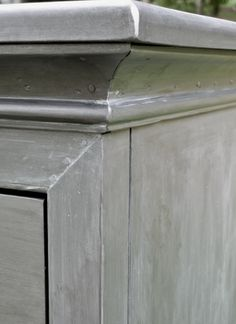 Faux Zinc Finish. I Did This Finish On A Dresser For The Kids Playroom.
