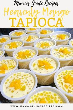 Heavenly mango tapioca lives by its name.is heavenly creamy delicious, not to m… Heavenly mango tapioca lives by its name.is heavenly creamy delicious, not to mention the tapioca. Heavenly mango tapioca is the perfect delicious dessert! Mango Desserts, Philipinische Desserts, Asian Desserts, Delicious Desserts, Chinese Desserts, Thai Dessert Recipes, Chinese Food, Pinoy Dessert, Filipino Desserts