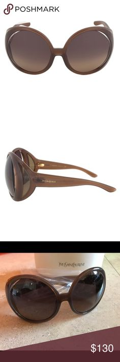 Authentic YSL Egypt Large Round Sunglasses Authentic NWT Yves Saint Laurent Egypt Large Round Circular Sunglasses 6356/S YSL/Saint Laurent Frame Material: Composite Lens Technology: 100% UV Protection Style: Oversized Circular Country/Region Of Manufacture: Italy Frame Color: Brown Size: 58mm X 16mm X 110mm Lens Color: Brown Gradient BRAND NEW, Includes Case Yves Saint Laurent Accessories Sunglasses