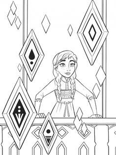 Frozen 2 free coloring pages with Anna Disney Coloring Sheets, Frozen Coloring Pages, Cute Coloring Pages, Free Coloring, Adult Coloring, Frozen Disney, Frozen Drawings, Disney Paintings, Color Activities