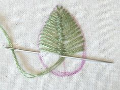 Sarah Whittle - Contemporary Embroidery Artist: Closed Cretan Stitch Leaves...her tutorials are wonderful