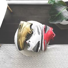 """c668bbd92b1 ENGLISH SOLE - Rare Sneakers on Instagram  """"Who had the better Jordan 3⁉ 🔥   djkhaled  champagnepapi or  justintimberlake⁉ ."""