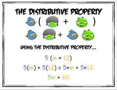 FREE Product - Distributive Property Angry Birds