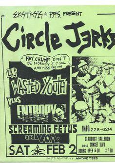 Circle Jerks ~ Stardust Ballroom, Hollywood.