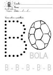 alfabeto pontilhado para colorir - letra b