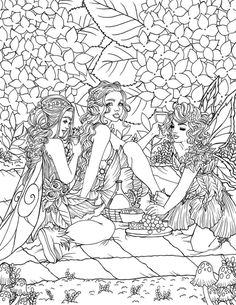 Rose Coloring Pages, Adult Coloring Pages, Coloring Sheets, Free Coloring, Coloring Books, Fantasy Life, Butterfly Fairy, Beautiful Fairies, Fairy Land
