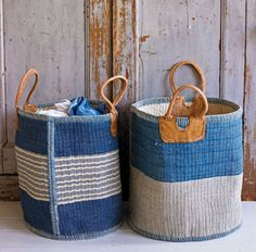 I love woven bags....and in blue, even better!