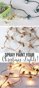 #24. Customize your Christmas lights with spray paint. -- 29 Cool Spray Paint Ideas That Will Save You A Ton Of Money