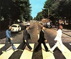 Abbey Road, a classic Beatles photograph <3